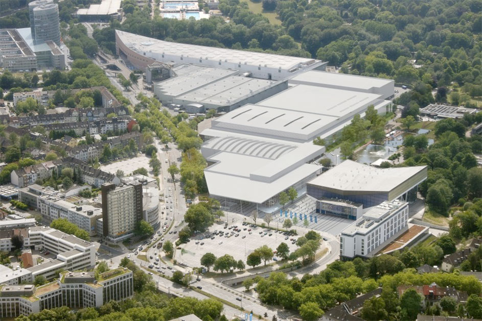 The New MESSE ESSEN in four development phases