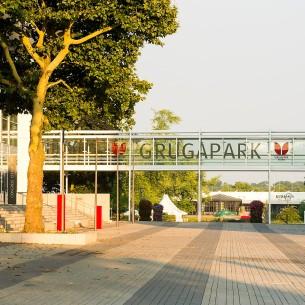 Neugestalteter Zugang zum Grugapark